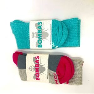 Bombas socks 2 pairs Blue and gray NWT size M